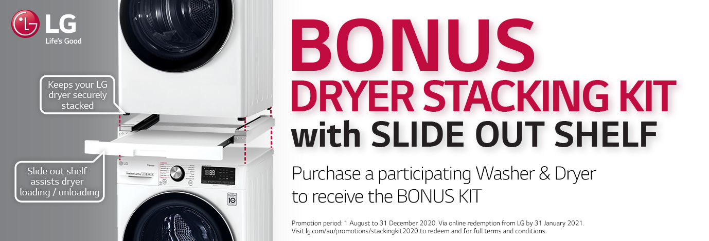 Purchase a participating Washer & Dryer to receive the BONUS KIT