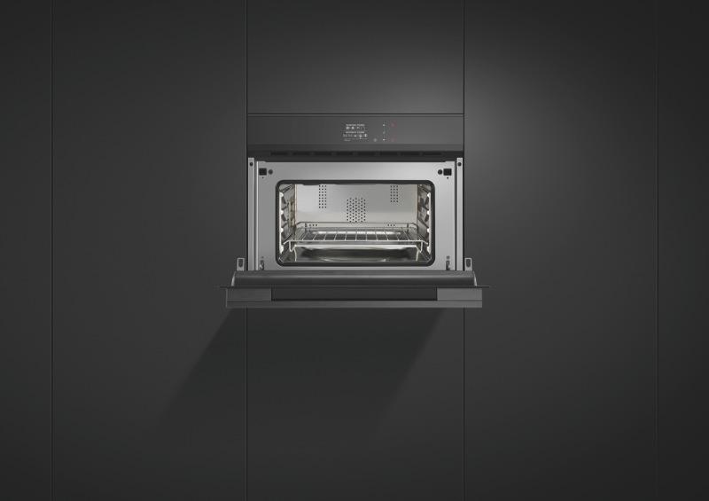 Fisher & Paykel 60cm Built-In Combi Microwave Oven - Black