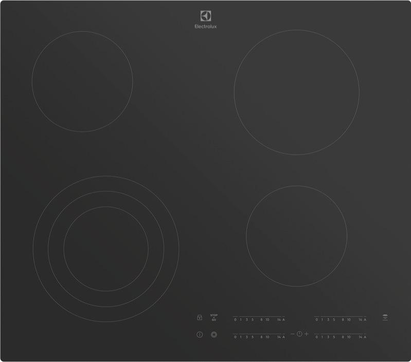 Electrolux 60cm Ceramic Cooktop - Black EHC644BB