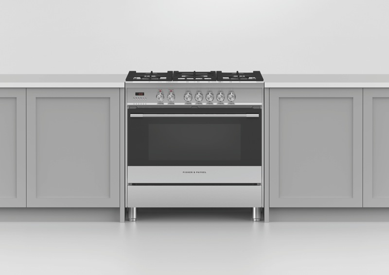 Fisher & Paykel 90cm Freestanding Dual Fuel Cooker - Stainless Steel OR90SCG1X1