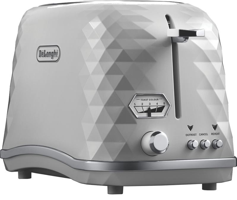 DeLonghi 2 Slice Brillante Toaster - White CTJX2003W