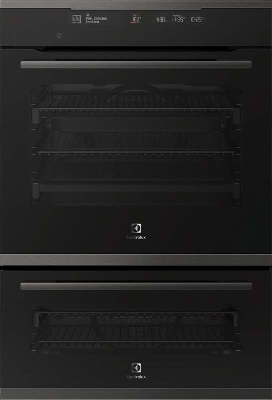 Electrolux 60cm Built-In Pyrolytic Double Oven - Dark Stainless Steel EVEP626DSD