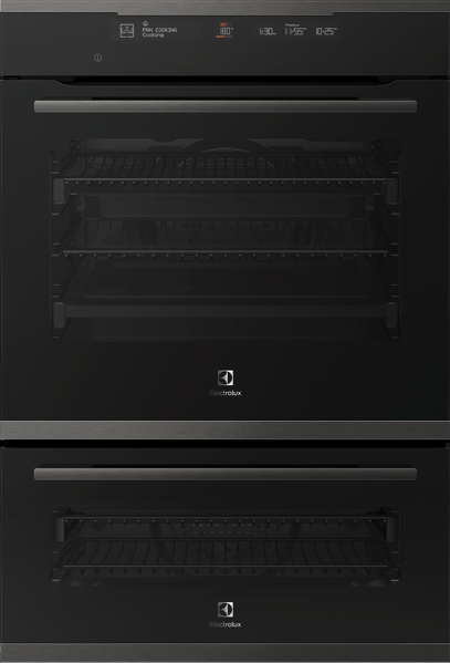 Electrolux 60cm Built-in Pyrolytic Double Oven EVEP626DSD
