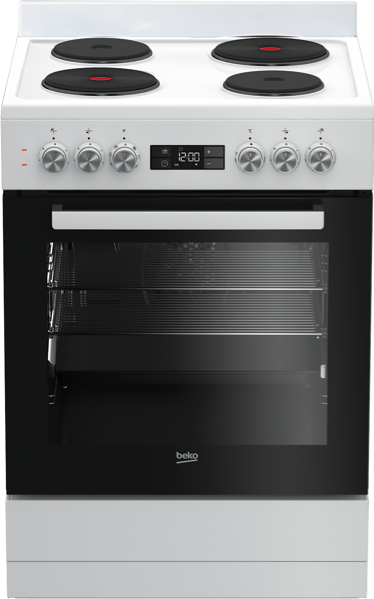 Beko 60cm Freestanding Electric Cooker - White BFC60EMW1