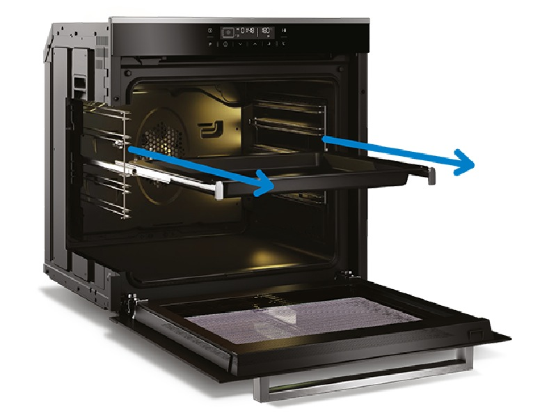 Beko 94L Built-in Side Venting Oven with Steam Assist BBO60B2SB
