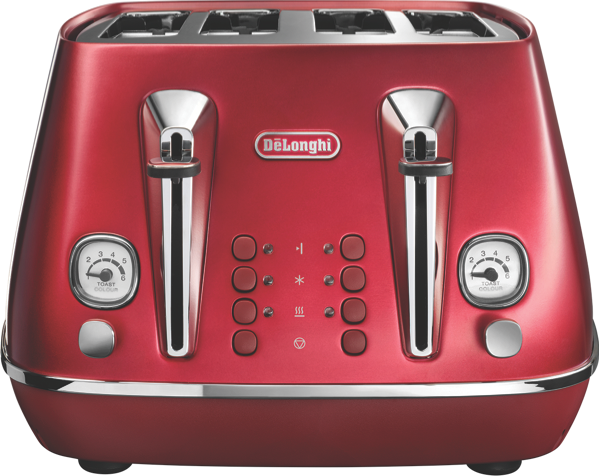 DeLonghi Distinta Flair 4 Slice Toaster - Red CTI4003R