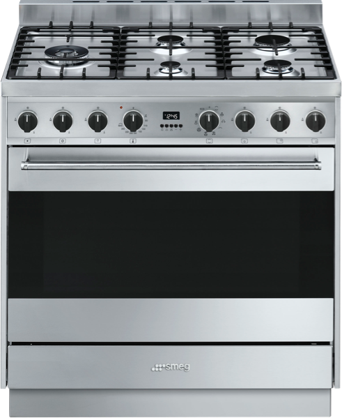 Smeg 90cm Dual Fuel Freestanding Cooker CS95GMXNA