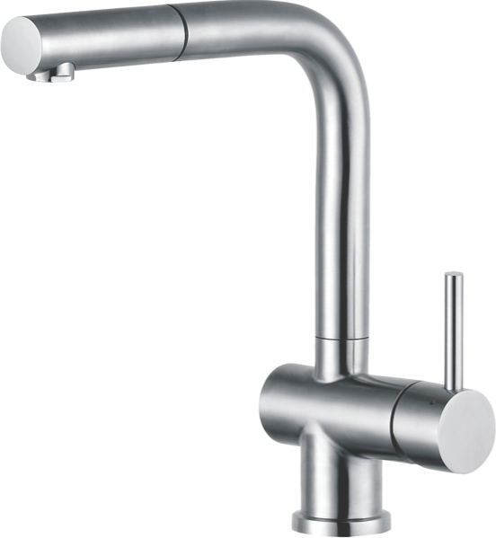 Franke Atlas Single Lever Pull Out Mixer Tap - Stainless Steel TA9521