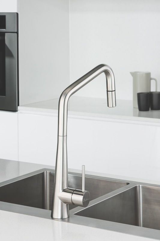 Oliveri Essente Goose Neck Pull Out Mixer SS2575