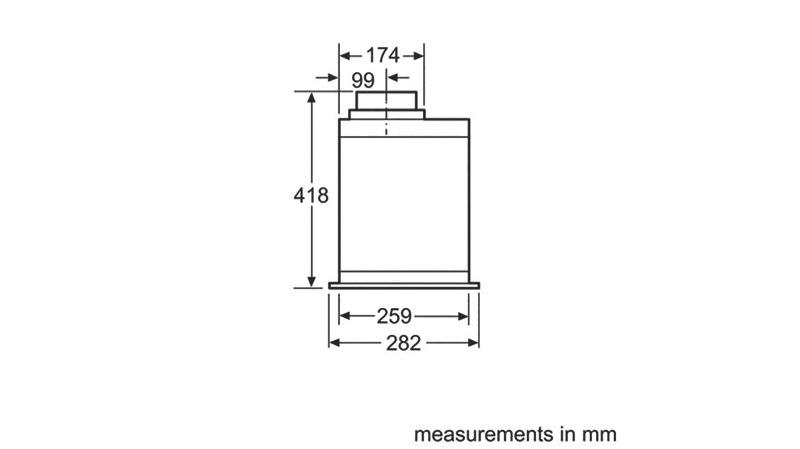 Bosch 86cm Integrated Rangehood - Stainless Steel DHL895DAU