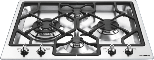 Smeg 60cm Gas Cooktop - Stainless Steel PGA64