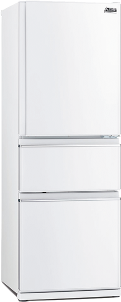 Mitsubishi Electric 402L 3-Door Bottom Mount Fridge MRCX402EJWA