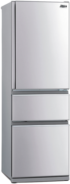 Mitsubishi Electric 370L 3-Door Bottom Mount Fridge MRCX370EJSTA