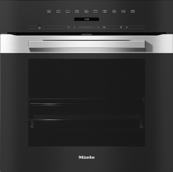 Miele 60cm Built-In Pyrolytic Oven - Clean Steel H7260BP