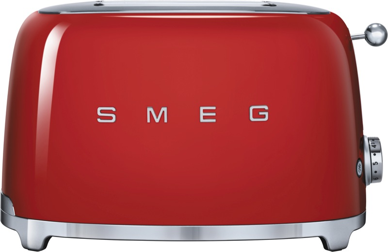 Smeg 2 Slice Toaster - Red TSF01RDAU