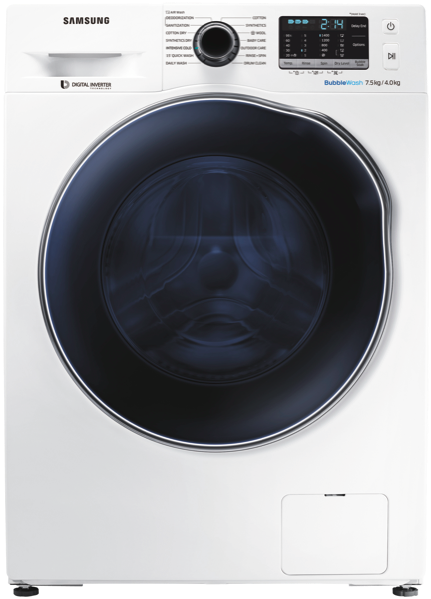 Samsung 7.5kg Washer/4kg Dryer Combo WD75J5410AW