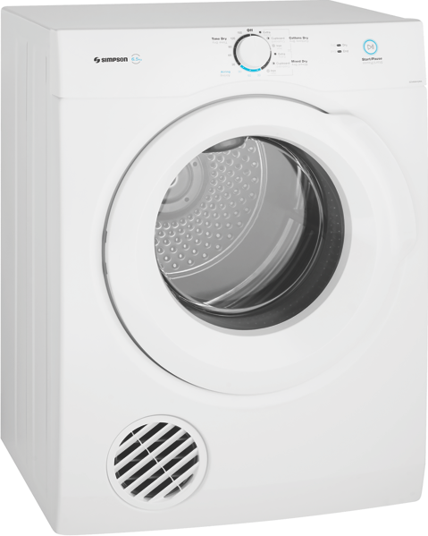 Simpson 6.5kg Vented Dryer SDV656HQWA