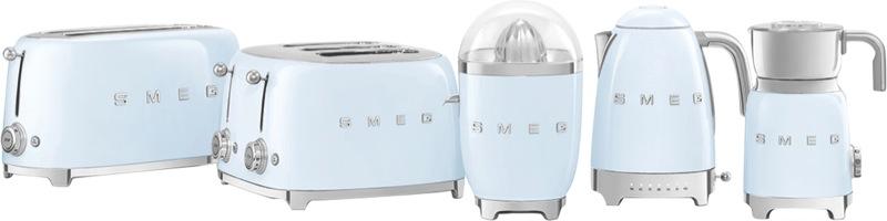Smeg 4 Slice Toaster Blue TSF02PBAU
