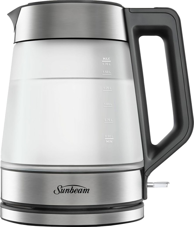 Sunbeam Morning Frost Glass Kettle KE6200