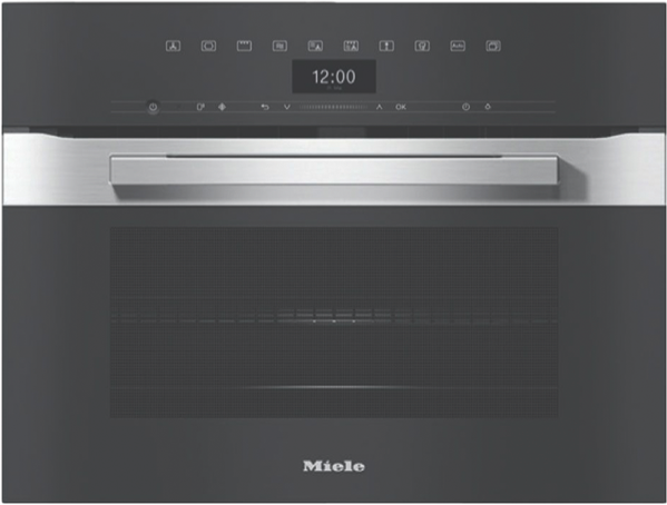 Miele VitroLine Graphite Grey Microwave Combination Oven H7440BM