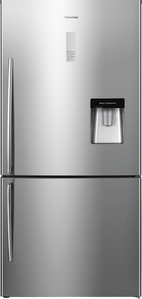 Hisense 514L Bottom Mount Fridge - Stainless Steel HR6BMFF514SW