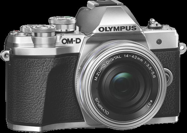 Olympus OM-D E-M10 Mark III Mirrorless Camera + 14-42mm Lens Kit - Silver V207072SA000