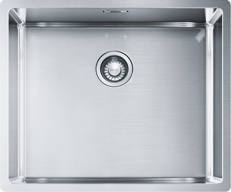 Franke Bolero Box Single Bowl Flushmount Sink - Stainless Steel BOX21050