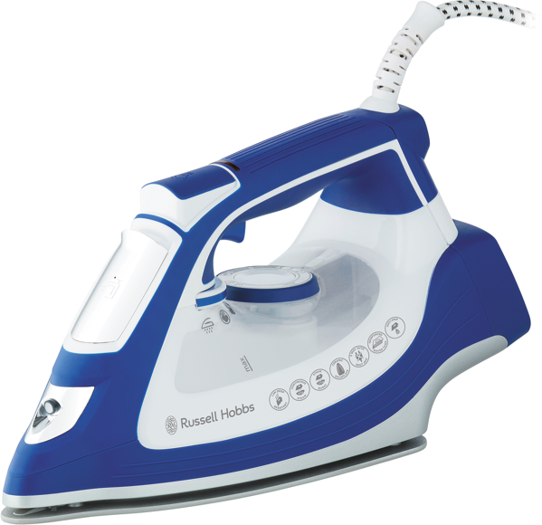 Russell Hobbs Impact Steam Iron - White/Blue RHC800