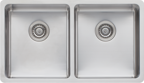Oliveri Sonetto Double Bowl Sink - Stainless Steel SN63TU