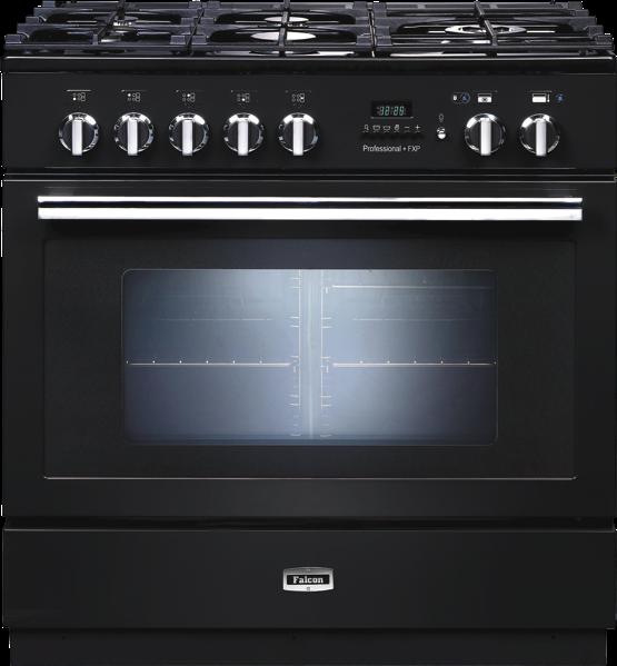 Falcon 90cm Freestanding Dual Fuel Cooker - Black PROP90FXPDFGBCH