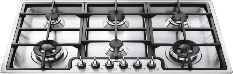 Smeg 90cm Gas Cooktop - Stainless Steel PGA96