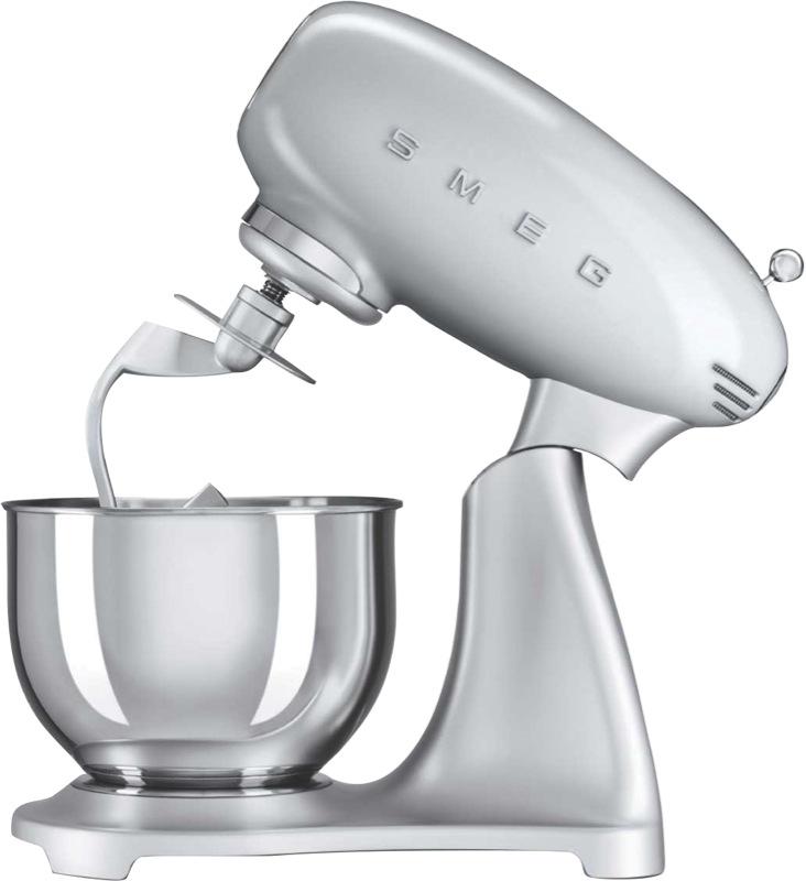 Smeg 800W Stand Mixer - Silver SMF01SVAU