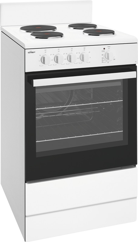 Chef 54cm Freestanding Electric Cooker - White CFE532WB