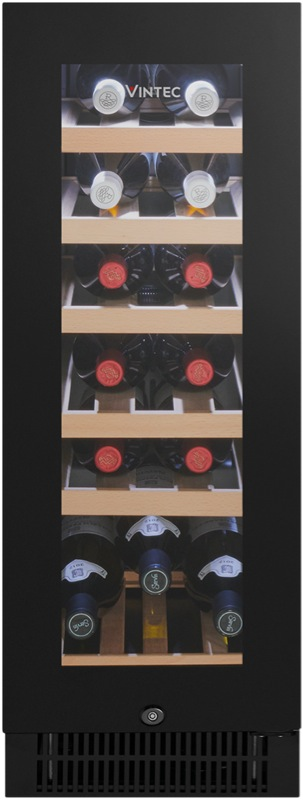 Vintec 20 Bottle Wine Cellar - Black Glass VWS020SBAX