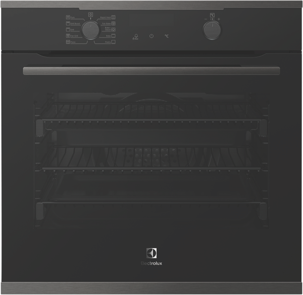 60cm Built-In Pyrolytic Oven - Dark Stainless Steel EVEP614DSD
