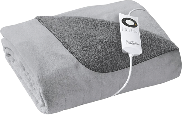 Sunbeam Quick & Cosy Reversible Electric Throw - Grey TR2000