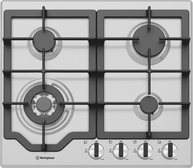 Westinghouse 60cm Gas Cooktop - Stainless Steel WHG644SC