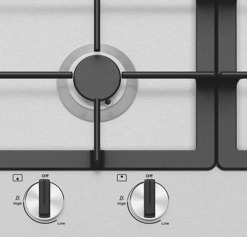 Westinghouse 90cm Gas Cooktop - Stainless Steel WHG954SC
