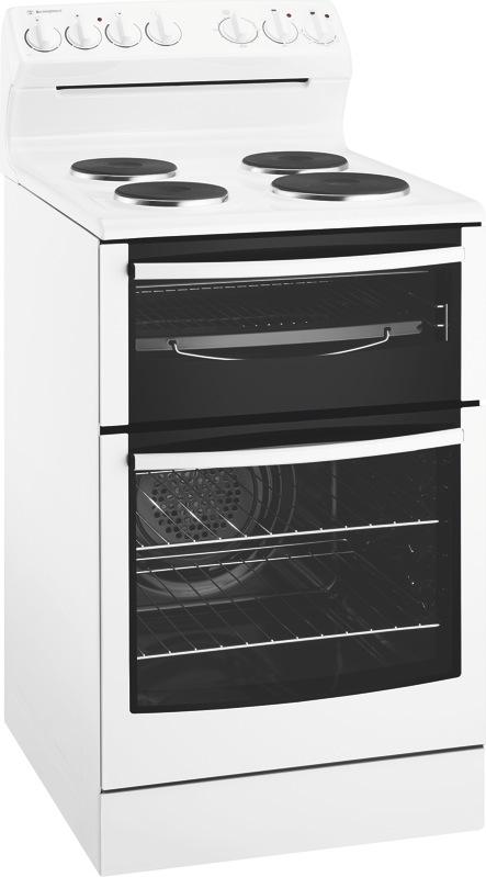 Westinghouse 54cm Freestanding Electric Cooker - White WLE535WB