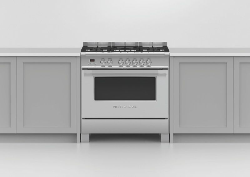 Fisher & Paykel 90cm Dual Fuel Freestanding Cooker - Stainless Steel OR90SCG2X1