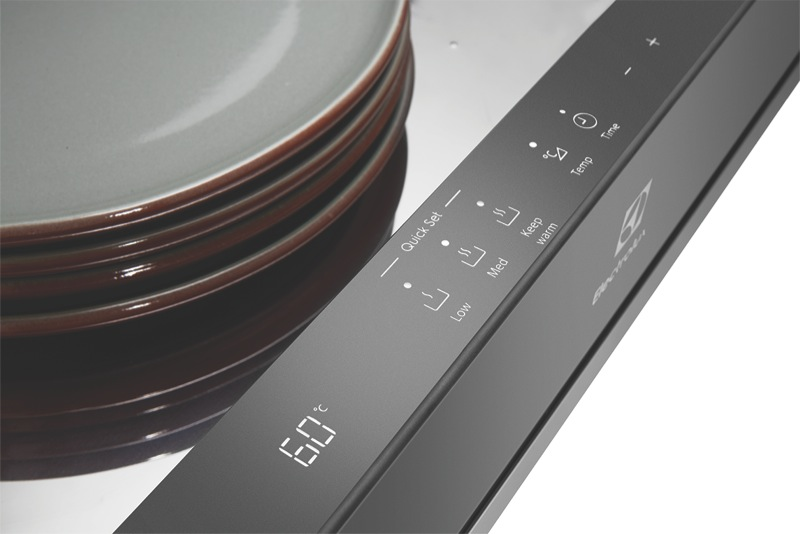 Electrolux 14cm Built-In Warming Drawer - Dark Stainless Steel EWD1402DSD