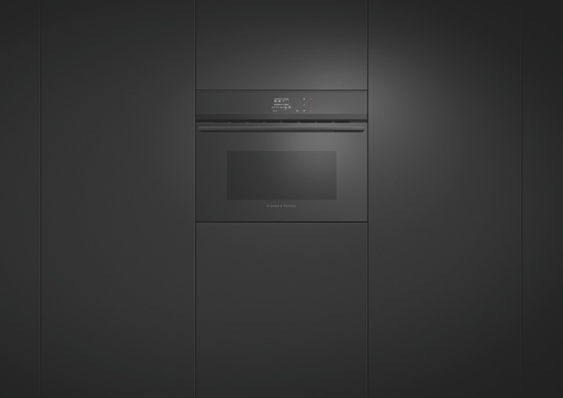 Fisher & Paykel 60cm Built-In Combi Microwave Oven - Black OM60NDBB1