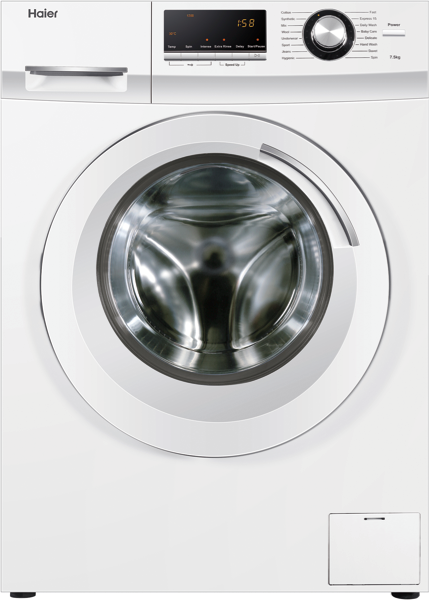 7.5kg Front Load Washing Machine – White HWF75AW2