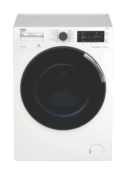 Beko 8.5kg Front Load Washing Machine with Autodosing BFL853ADW