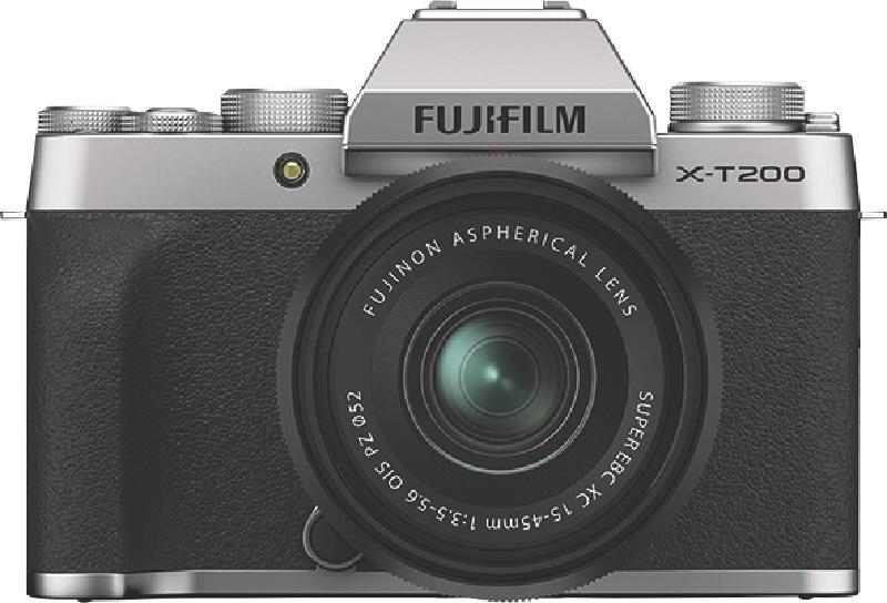 Fujifilm X-T200 Digital Mirrorless Camera with XC 15-45mm Lens - Silver 74381