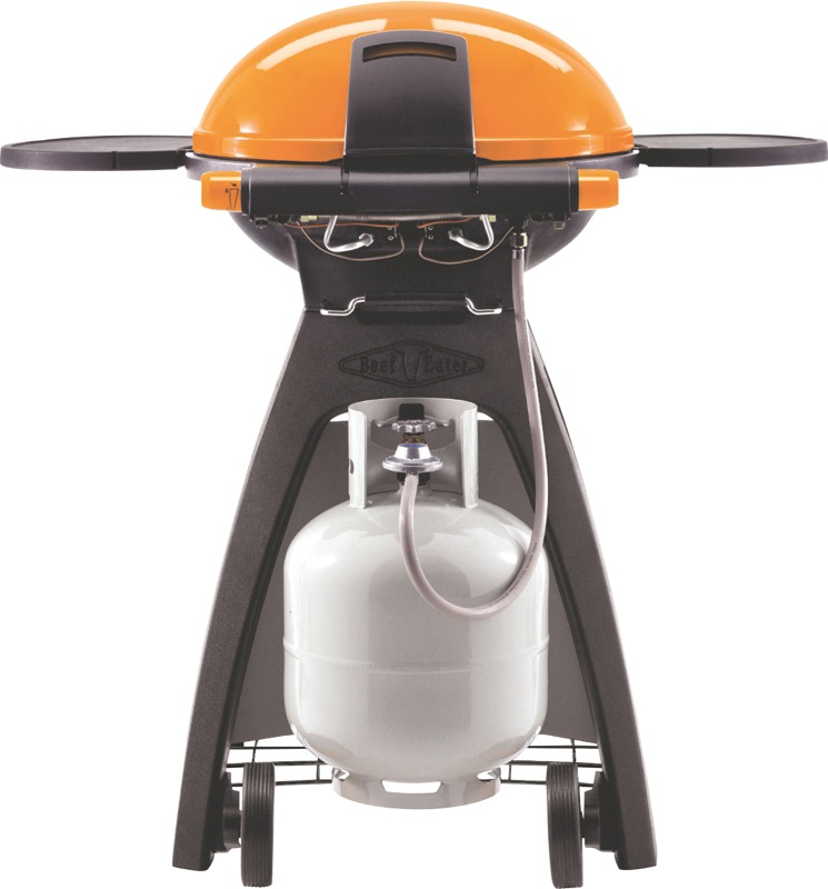 Beefeater Kit – 2 Burner Mobile Gas BBQ with Stand – Orange BB49924