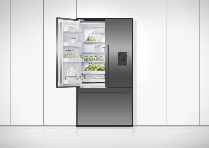 Fisher & Paykel 614L French Door Fridge with Ice & Water - Black RF610ADUB5