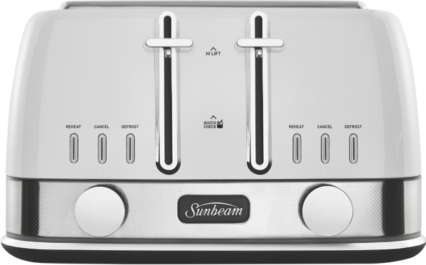 Sunbeam 4Sl Toaster New York  - White Silver TA4440WS