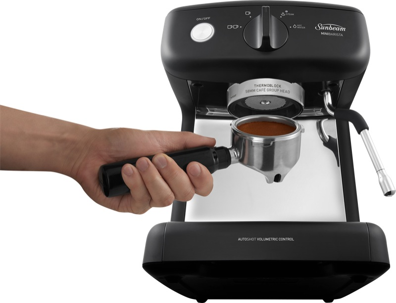 Sunbeam Mini Barista Espresso Machine - Black EM4300K
