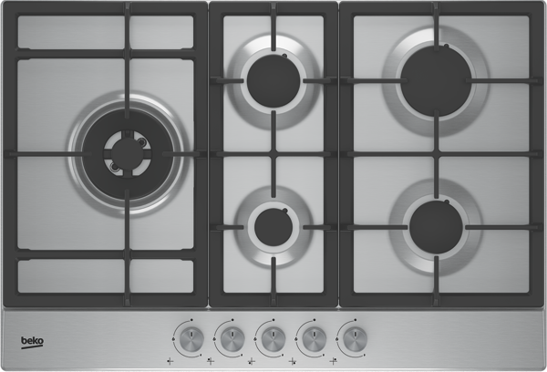 Beko 75cm Gas Cooktop - Stainless Steel BCT75GX